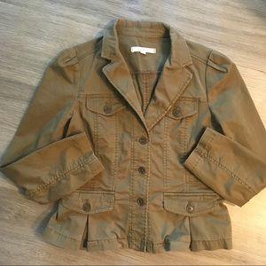 LOFT by Ann Taylor Olive Green Cotton Jacket